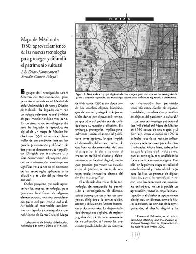 Mapa de México 1550: aprovechamiento de las nuevas tecnologías para proteger y difundir el patrimonio cultural
