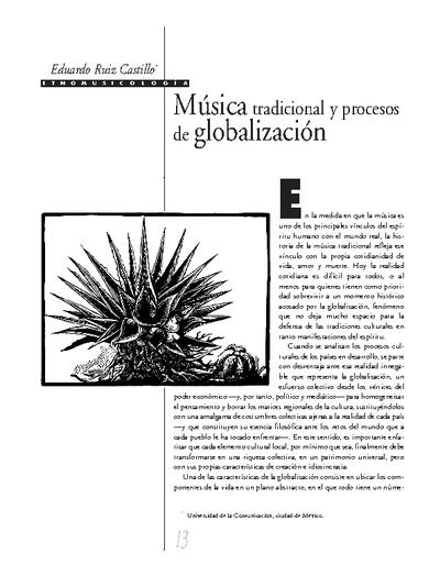 Música tradicional y procesos de globalización