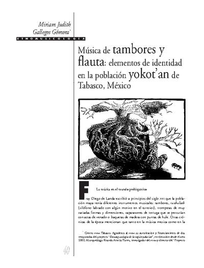 Música de tambores y flauta: elementos de identidad en la población yokot'an de Tabasco, México