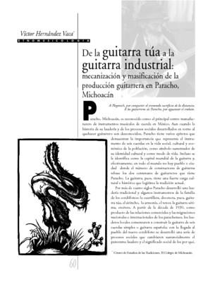 De la guitarra túa a la guitarra industrial: mecanización y masificación de la producción guitarrera en Paracho, Michoacán