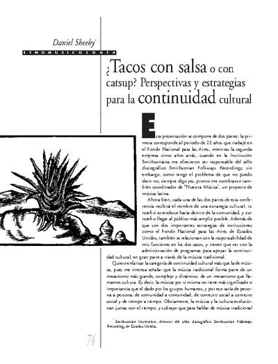 ¿Tacos con salsa o con catsup? Perspectivas y estrategias para la continuidad cultural
