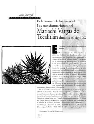 De la comarca a la fama mundial. Las transformaciones del Mariachi Vargas de Tecalitlán durante el siglo XX