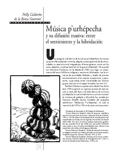 Música p'urhépecha y su difusión masiva: entre el sentimiento y la hibridación