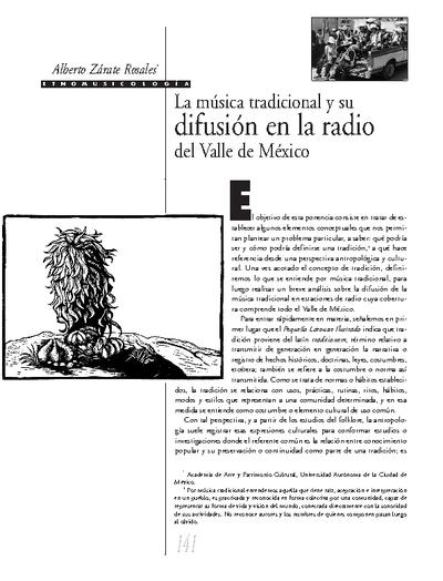 La música tradicional y su difusión en la radio del Valle de México