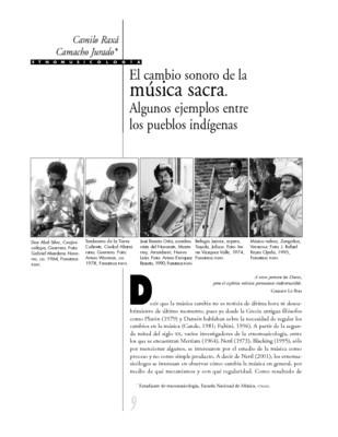 El cambio sonoro de la música sacra. Algunos ejemplos entre los pueblos indígenas