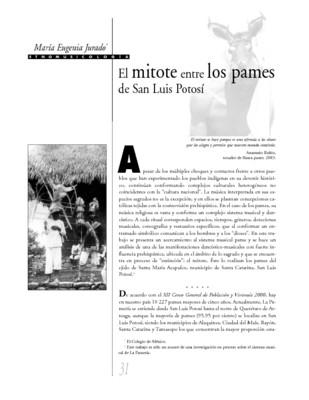 El mitote entre los pames de San Luis Potosí