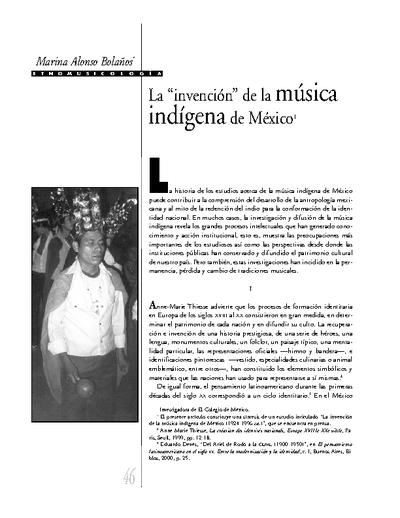 """La """"invención"""" de la música  indígena de México"""