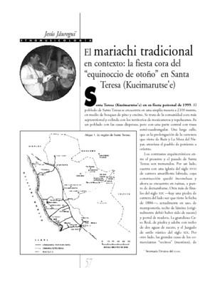 """El mariachi tradicional en contexto: la fiesta cora del """"equinoccio de otoño"""" en Santa Teresa (kueimarutse'e)"""