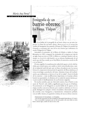 Etnografía de un barrio obrero: la Fama, Tlalpan
