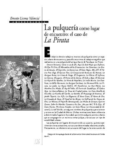 La pulquería como lugar de encuentro: el caso de la Pirata