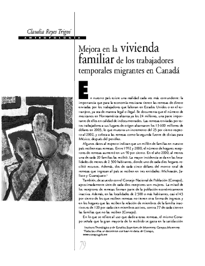 Mejora en la vivienda familiar de los trabajadores  temporales migrantes en Canadá