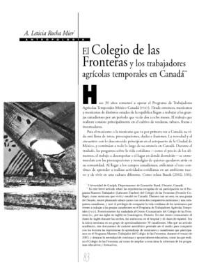 El Colegio de las Fronteras y los trabajadores agrícolas temporales en Canadá