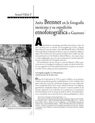 Anita Brenner en la fotografía mexicana y su expedición etnográfica a Guerrero
