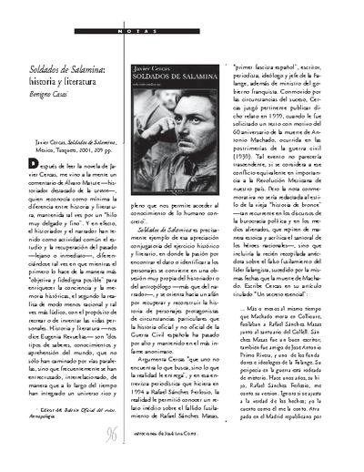 Soldados de Salamina: historia y literatura