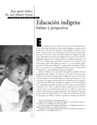 Educación indígena: balance y perspectivas
