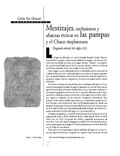 Mestizajes, exclusiones y alianzas étnicas en las pampas y el Chaco rioplatenses