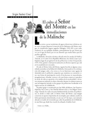 El culto al Señor del Monte en las inmediaciones de la Malinche