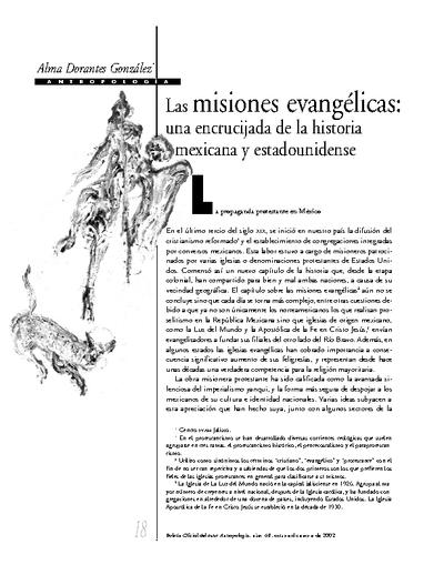 Las misiones evangélicas: una encrucijada de la historia mexicana y estadounidense