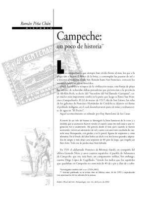 Campeche: Un poco de historia