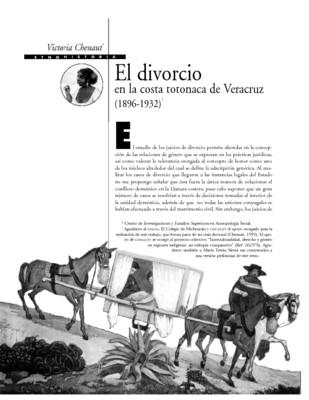 El divorcio en la costa totonaca de Veracruz (1896 - 1932)