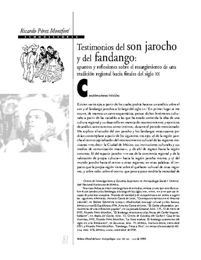 Testimonios del son jarocho y del fandango