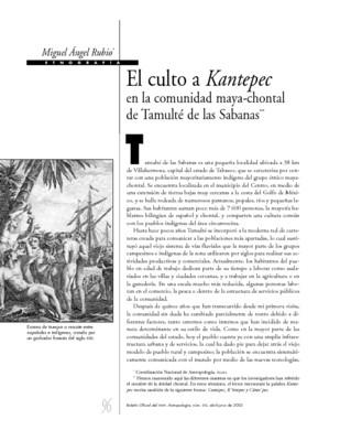 El culto a Kantepec en la comunidad maya - chontal de Tamulté de las Sabanas