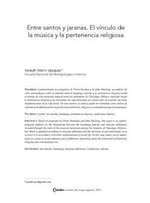 Entre santos y jaranas. El vínculo de la música y la pertenencia religiosa