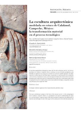 La escultura arquitectónica modelada en estuco de Calakmul, Campeche, México: la transformación material en el proceso tecnológico