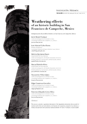Weathering effects of an historic building in San Francisco de Campeche, Mexico