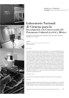Laboratorio Nacional de Ciencias para la Investigación y la Conservación del Patrimonio Cultural (LANCIC), México