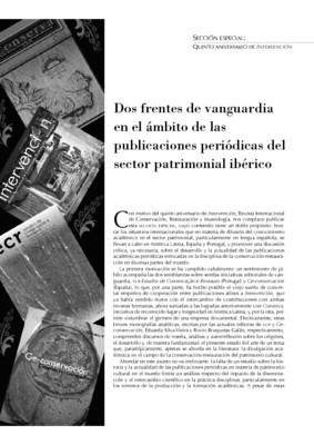 Dos frentes de vanguardia en el ámbito de las publicaciones periódicas del sector patrimonial ibérico