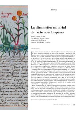 La dimensión material del arte novohispano