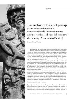 Las metamorfosis del paisaje y sus repercusiones en la conservación de los monumentos arquitectónicos: el caso del conjunto de Santiago Atzacoalco (México)
