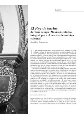El Rey de burlas de Tenancingo (México): estudio integral para el rescate de un bien cultural