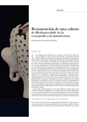 Restauración de una cabeza de Mictlantecuhtli: de la iconografía a la manufactura