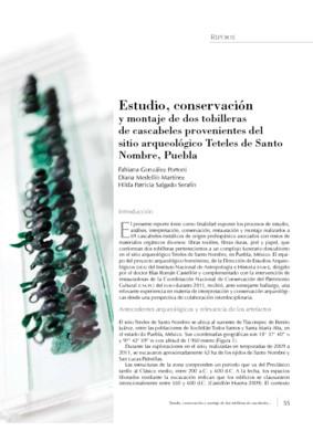 Estudio, conservación y montaje de dos tobilleras de cascabeles provenientes del sitio arqueológico Teteles de Santo Nombre, Puebla
