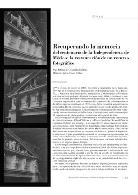 Recuperando la memoria del centenario de la Independencia de México: la restauración de un recurso fotográfico