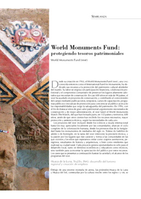 World Monuments Fund: protegiendo tesoros patrimoniales