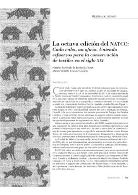 La octava edición del NATCC: Cada cabo, un oficio. Uniendo esfuerzos para la conservación de textiles en el siglo XXI