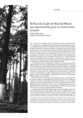 El Panteón Inglés de Real del Monte: una aproximación para su conservación integral