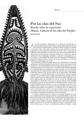 Por las olas del Sur. Reseña sobre la exposición Moana. Culturas de las islas del Pacífico