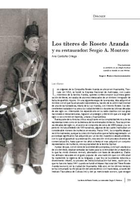 Los títeres de Rosete Aranda y su restaurador: Sergio A. Montero