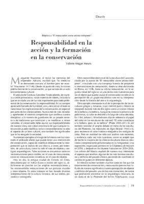Responsabilidad en la acción y la formación en la conservación