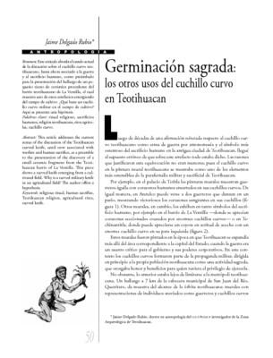 Germinación sagrada: los otros usos del cuchillo curvo en Tehotihuacan