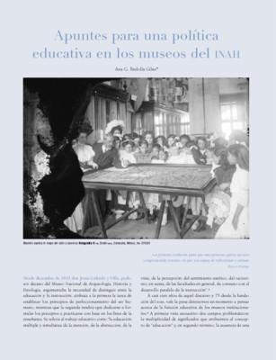 Apuntes para una política educativa en los museos del INAH