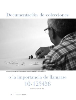 Documentación de colecciones o la importancia de llamarse 10-123456