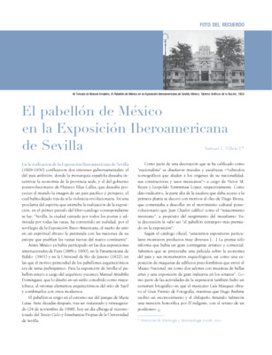 El pabellón de México en la Exposición Iberoamericana de Sevilla