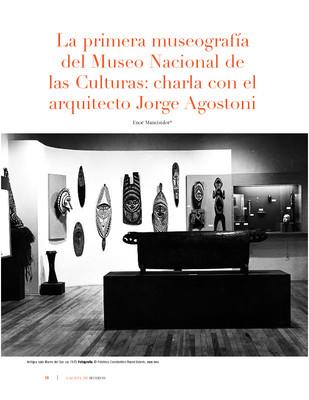 La primera museografía del Museo Nacional de las Culturas: charla con el arquitecto Jorge Agostoni
