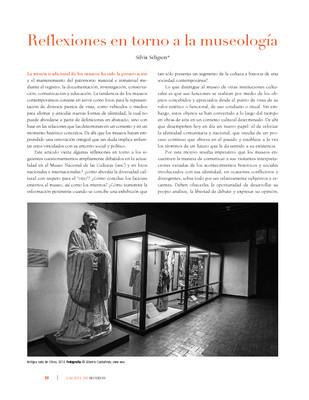 Reflexiones en torno a la museología
