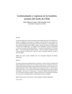 Continuidades y rupturas en la funebria Aymara del norte de Chile